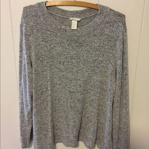 H&M Gray Long Sleeve Sweater Blouse